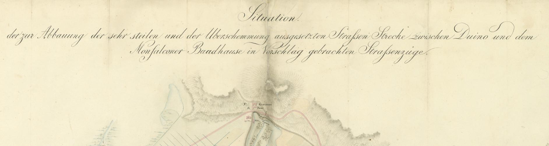 Situazione delle erte e dei guadi posti tra le terme di Monfalcone e Duino (…)