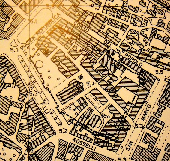 mappa di Monfalcone, anno 1818