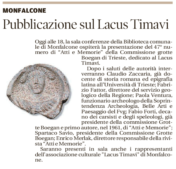 presentazione Lacus Timavi_Boegan