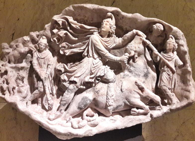 Mitra; mitreo di Duino; Duino; Vienna; Wien; Mithra; Cautes; Cautopates; Lacus Timavi