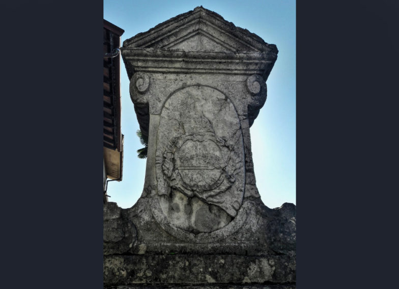 cippo sull'antico confine tra Venezia e Austria a Fogliano