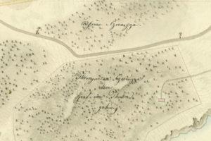 la riserva di caccia della Cernizza (Duino) in una mappa del 1824