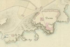 Duino in una mappa dell'anno 1824