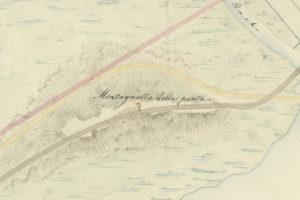 l'isola della Punta, vicino a Monfalcone, nel 1824; Monfalcone; archeologia Italia