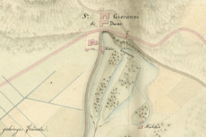 risorgive del Timavo presso San Giovanni di Duino, in una mappa del 1824
