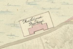 le terme romane di Monfalcone in una mappa del 1824; Monfalcone; archeologia Italia