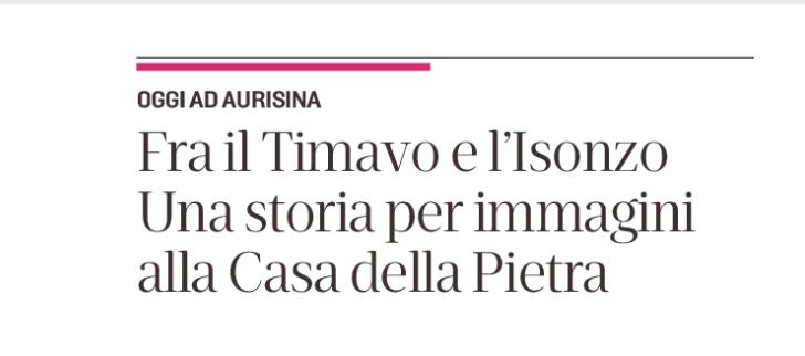 articolo mostra 'Una Storia per Immagini' – Aurisina | 1 febbraio