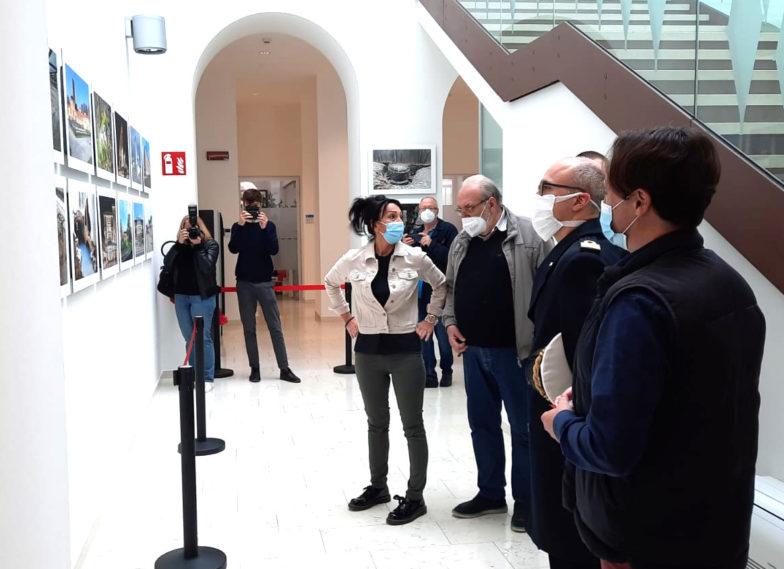 Inaugurazione della mostra MOnfalcone Nostra presso il municipio della città di Monfalcone, con il Sindaco Anna Maria Cisint, Flavio Snidero, Andrea Fasolo