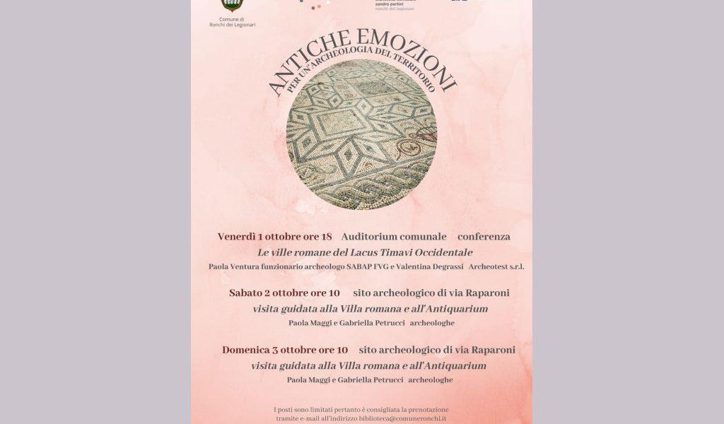 'Antiche emozioni. Per un'archeologia del territorio' | Ronchi dei Legionari