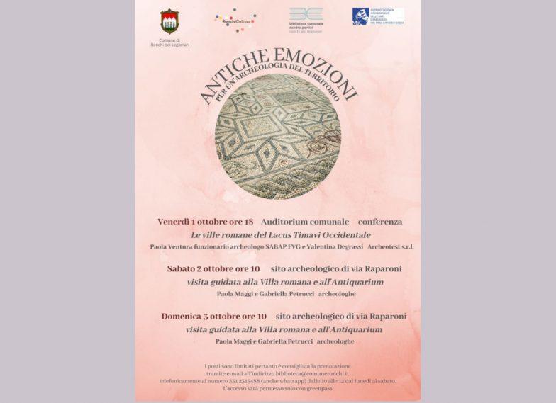 associazione culturale Lacus Timavi;'Antiche emozioni. Per un'archeologia del territorio' | Ronchi dei Legionari